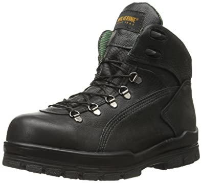 Wolverine Men's Tacoma Hiker 6 Inch Steel Toe EH Work Boot, Black, ...