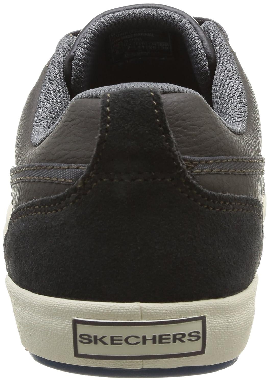 Amazon.com | Skechers Mens Relaxed Fit Planfix Romelo, Gray, US 9 M | Shoes