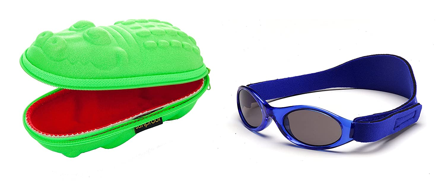 Baby Gift pack Sunglasses case Green Crocodile and Babybanz Blue Sunglasses 0-2 years Yoccoes 0202/croc-01A/B