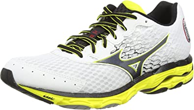 Mizuno Wave Inspire 11 - Zapatillas Running para Hombre, Color White/Black/Bolt, Talla 41: Amazon.es: Zapatos y complementos