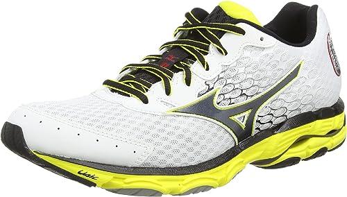 Mizuno Wave Inspire 11 - Zapatillas Running para Hombre, Color White/Black/Bolt, Talla 41: Amazon.es: Zapatos y complementos