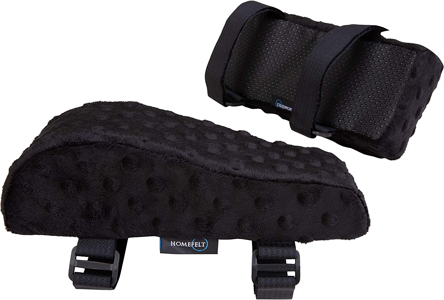 Homefelt Chair Armrest Pad - Comfy, Foam Armrest Pads for Office Chair with Soft Massage Dimples - Alleviate Pain and Stress in Elbows and Forearms - Elevated Design - Pressure Relief - 2 Pads