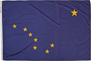 product image for Annin Flagmakers Model 140170 Alaska State Flag 4x6 ft. Nylon SolarGuard Nyl-Glo 100% Made in USA to Official State Design Specifications.