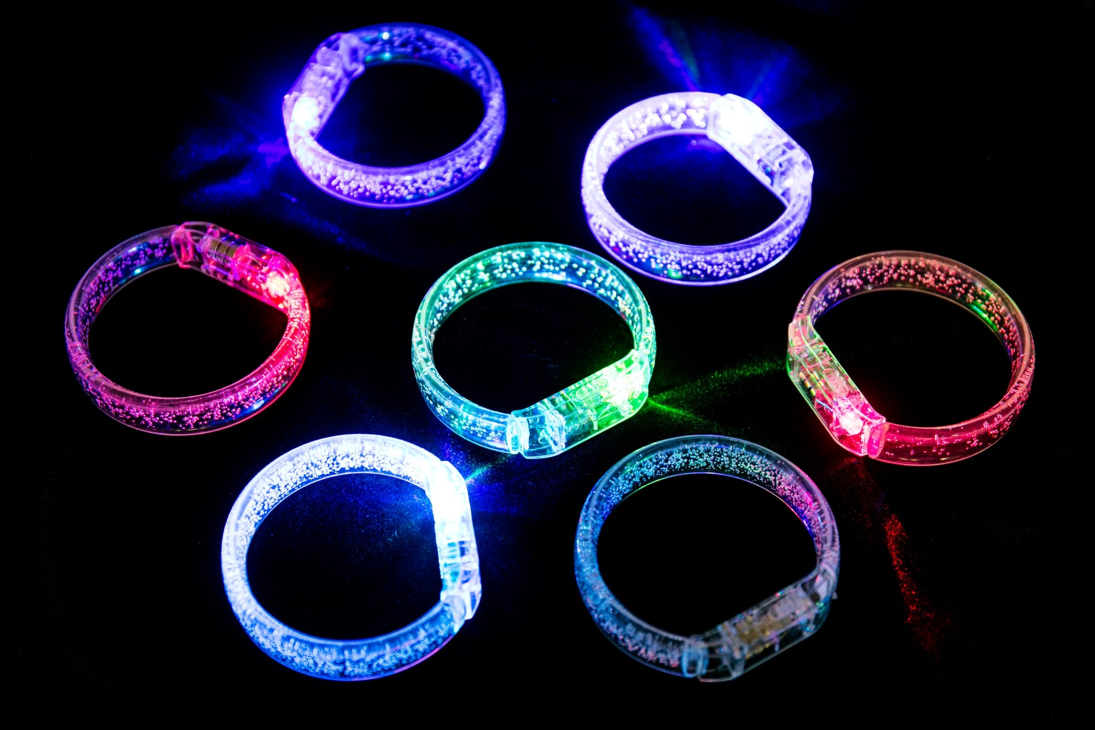 Midafon 10Pcs Led Bracelets Light Up Party Favors Glow Toys Supplies