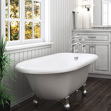 60 free standing tub. Luxury 60 Inch Modern Clawfoot Tub In White With Stand Alone Freestanding  Design