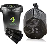 NaturePac Garbage Bags Biodegradable, Medium Size (48cmx56cm), Black, (180 Bags)