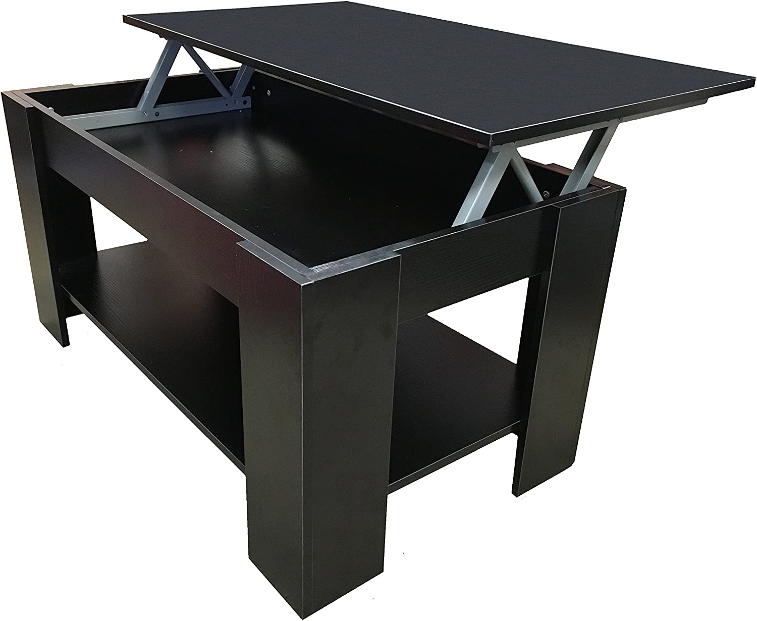 - Redstone Coffee Table Lift Up Top With Storage Black: Amazon.co.uk