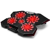 TopMate C7 Laptop Cooling Pad hasta 17 Pulgadas Gaming Laptop Cooler | 5 Ventiladores silenciosos con Luces LED Rojas 2…