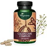 Colon Care Complex Vegavero® | Limpieza Intestinal + Colon Irritable + Hinchazón + Toxinas + Estómago | 120 Cápsulas | Hinojo + Psyllium + Jengibre + Pimienta Cayena + Probióticos | Vegano