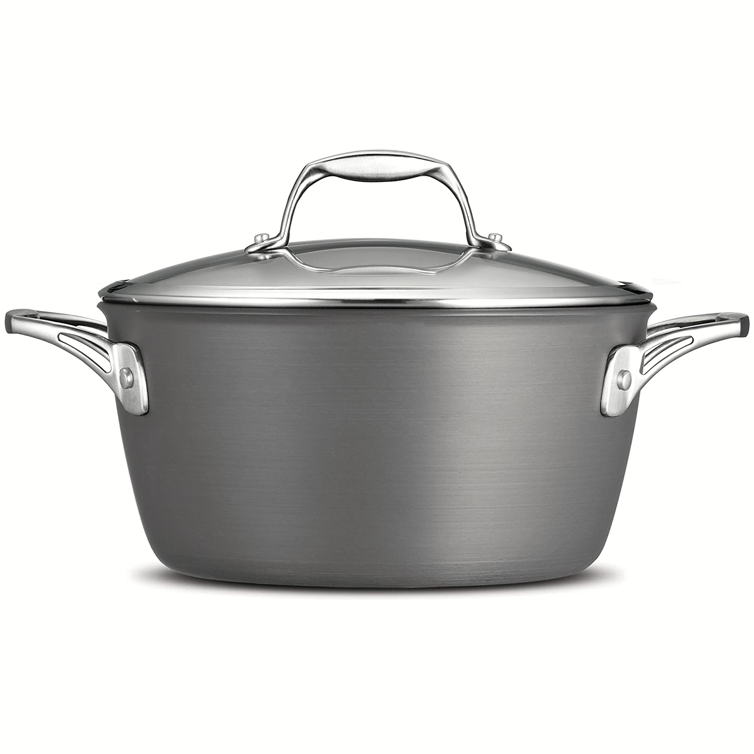 Tramontina 80123/042DSGourmet Heavy-Gauge Aluminum Nonstick Covered Dutch Oven, 5-Quart, Hard Anodized