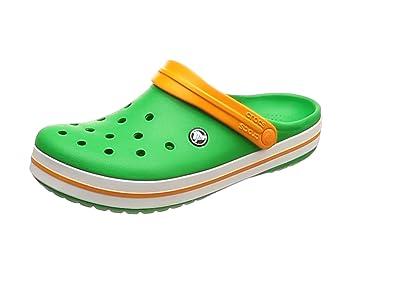 crocs Crocband, Unisex - Erwachsene Clogs, Schwarz (Onyx-Volt Green), 37/38 EU