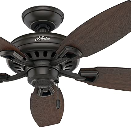 44 ceiling fan with light rustic style hunter fan 44quot new bronze ceiling without light kit blade certified 44