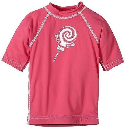 Billabong Rash Guards Sweet Short Sleeve - Neopreno para surf, color rosa (passion pop
