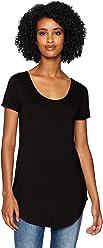 Daily Ritual Women's Jersey Short-Sleeve Scoop-Neck Longline T-Shirt