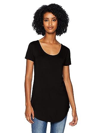 4b5fc0f5ba5f Amazon Brand - Daily Ritual Women's Jersey Short-Sleeve Scoop-Neck Longline  T-