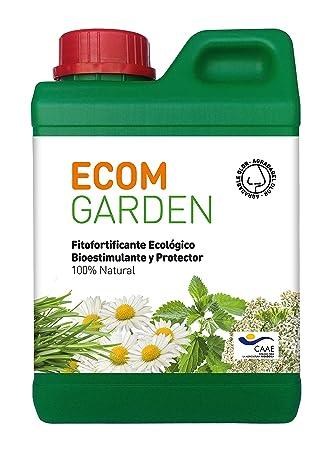 ECOM Garden Abono Bioestimulante Ecológico. 1 Litro Concentrado. Vigorizante Natural para Plantas De Interior