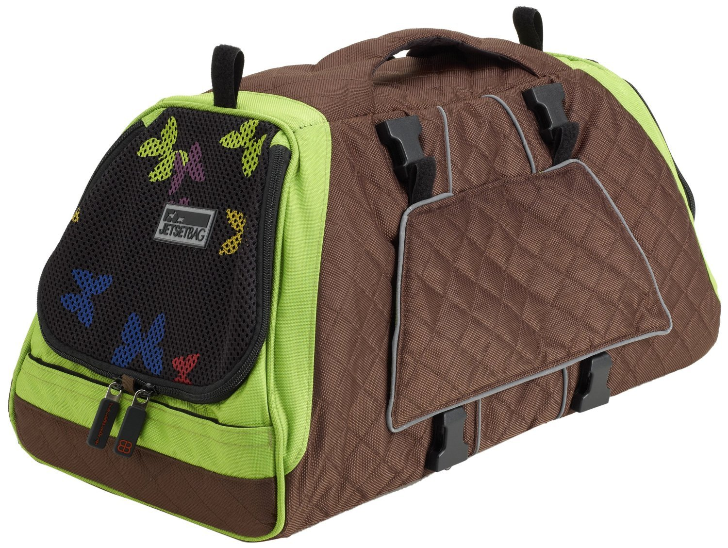 Petego Jet Set Pet Carrier with Forma Frame, Small, Green and Brown