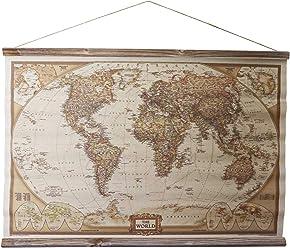 Preussen West Deutschland Landkarte historische Karte Wandkarte  Antik-Stil