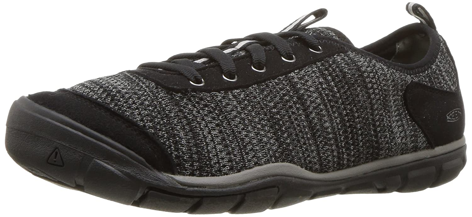 KEEN Women's Hush Knit-W Hiking Shoe B071XWPP7C 10 B(M) US|Black/Gargoyle