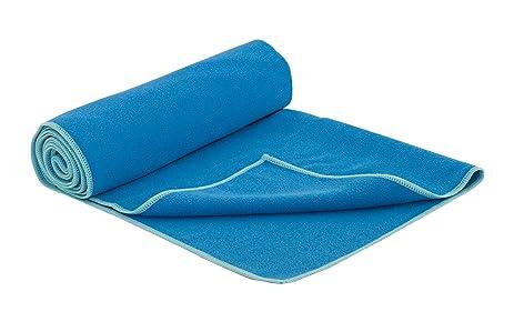 Amazon.com : ProSource Faveo Hot Yoga Mat Towel, Blue/Aqua ...