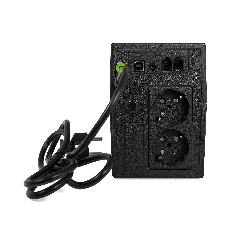 Back-UPS Sistema de alimentaci/ón ininterrumpida 230V 2000VA-3000VA Line-Interactive Power Supply Pure Sine Wave USB Type B 2X Schuko 1400W Green Cell UPS USV 2000VA