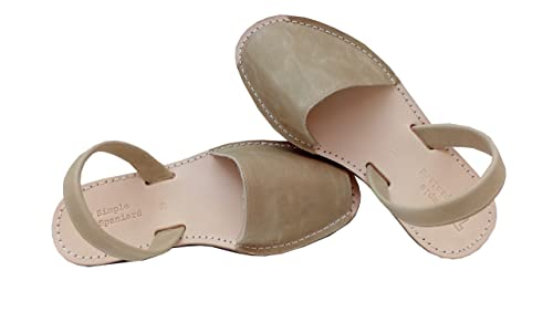 4893c1acbb97b Simple Spaniard Taupe Women Avarca Sandals Classic Style Leather Sandals  from Menorca Spain Menorquinas