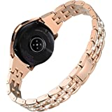 Wearlizer Bling Band Compatible with Samsung Galaxy Watch 42mm/Active 2 40mm/Samsung Galaxy Watch 3 41mm for Women,Metal…