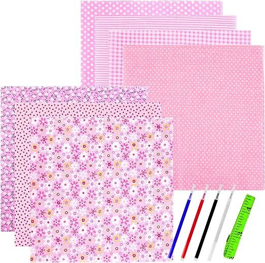 WXJ13 - Tela de algodón para manualidades (50 x 50 cm), color rosa: Amazon.es: Amazon.es