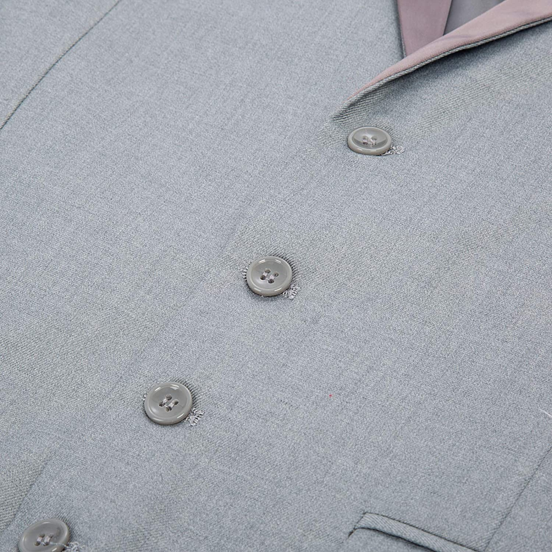 PAUL JONES Mens Formal Suit Vest Slim Fit Satin Shawl Wedding Waistcoat