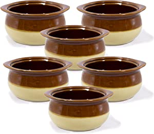 6 Pk 12oz French Onion Soup Crocks Perfect For Onion Soup Stews Casserole Restaurant Style