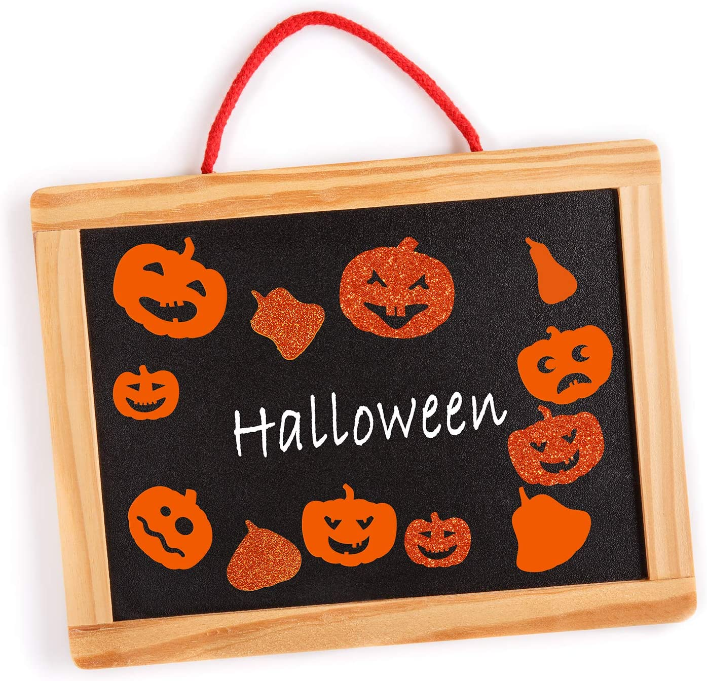 512 Pcs Bulk Foam Halloween Pumpkin Shapes Jack-O-Lantern Cutouts Stickers Self Adhesive Pumpkin Stickers 1 1.5 2 Embellishments for Kids Art Craft Trick-or-Treat Favors Halloween Fall Decoration