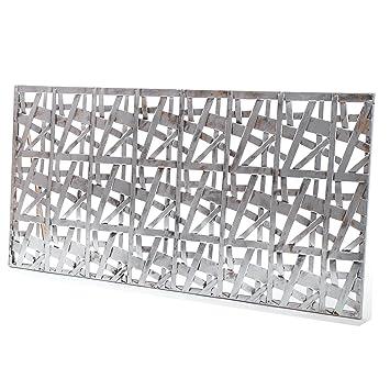 Deko Wand Objekt Chicago Metall Antik Silber 50x100 Cm