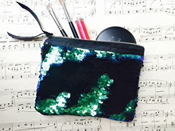 6fa4721a00 HomeBuy Flip Sequin Make Up Bag Reversible Mermaid Sequin Pouch Two Tone Sequins  Clutch Bag Cosmetic