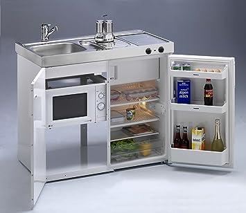 Mini küchenzeile  Mini-Küche mit Mikrowelle Kompaktküche Kleinküche Singleküche ...