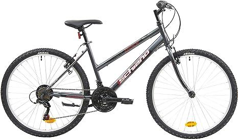 F.lli Schiano Ghost Bicicleta Montaña, Womens, Antracita-Rojo, 26 ...