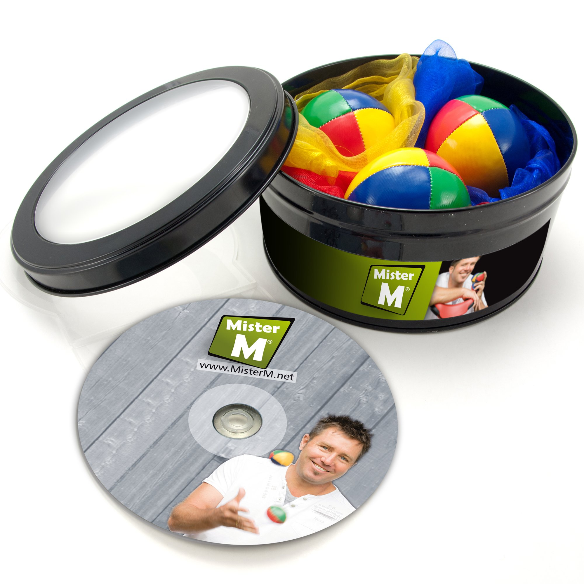3 Balls + 3 Scarves + an Instructional DVD by MisterM / The Ultimate Juggling Set by Mister M