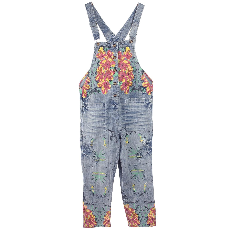 Sidiou Group Donna Salopette Pantaloni Baggy Stampato Pantaloni Dungarees Gambe Grandi Pantaloni Jeans