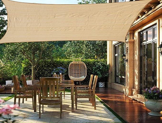 HENG FENG Toldo Vela de Sombra Rectangular 2 x 3 m Protección Rayos UV Solar Protección HDPE Transpirable Aislamiento de Calor para Dar Sombra a su Jardín Color Arena: Amazon.es: Jardín