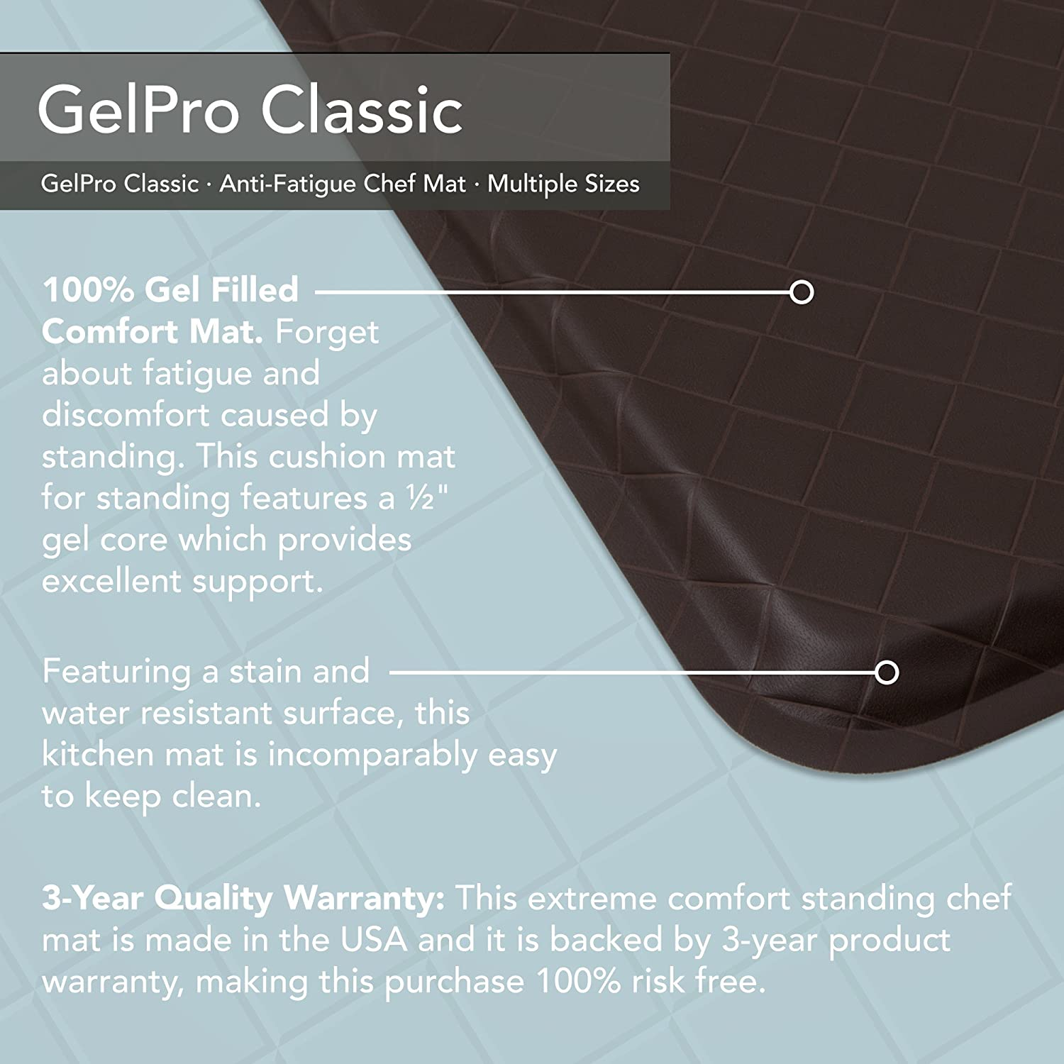 Amazon.com: GelPro Classic Anti-Fatigue Kitchen Comfort Chef Floor ...