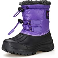 DREAM KIDS Winter Snow Boots Boy's Girl's Outdoor Waterproof Cold Weather Snow Boots(Toddler/Little Kid/Big Kid)