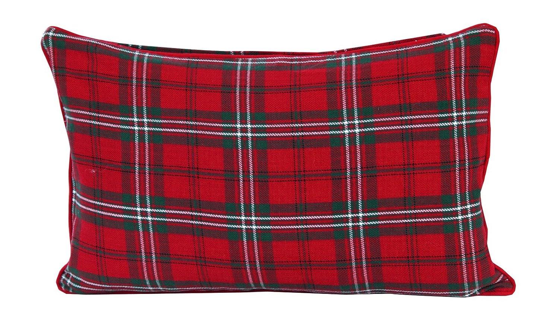 Homescapes dekorative Kissenhülle Blackwatch Tartan, 30 x 50 cm, Kissenbezug mit Reißverschluss aus 100% reiner Baumwolle