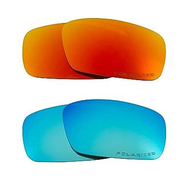 c7bc3956b9 CRANKSHAFT Replacement Lenses Polarized Blue   Red by SEEK fits OAKLEY