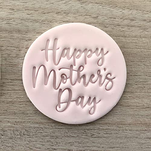 Embossing for cupcake and cake stamps sugar paste HAPPY MOTHER/'S DAY