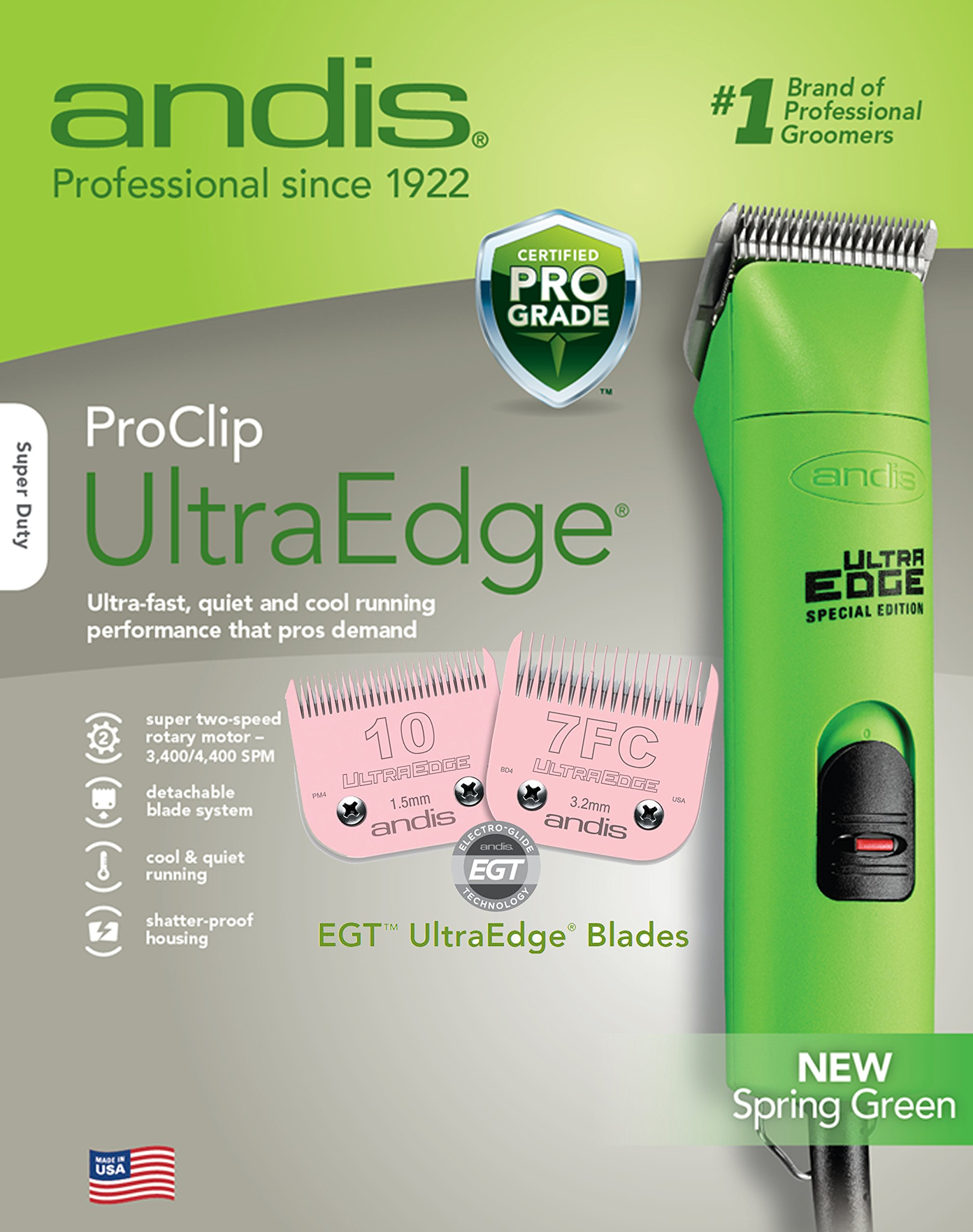 Andis AGC Super-2 Speed Clippers-Green With Free 7F Blade