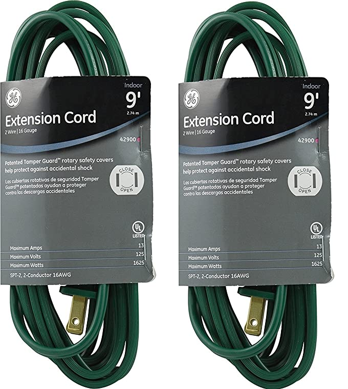 Amazon.com: GE Indoor Extension Cord with Tamper Guard, WxFiFZ 2 Pack(15 ft),Brown: Home & Kitchen