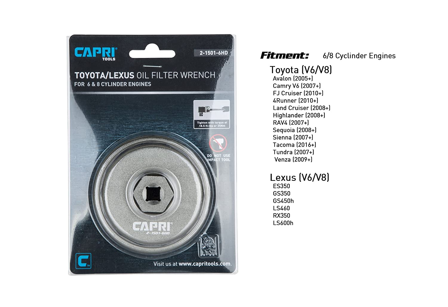 Capri Tools Forged Toyota Oil Filter Wrench For 2005 Avalon 3 5l Engine Diagram Lexus With 25l To 57l Engines Automotive