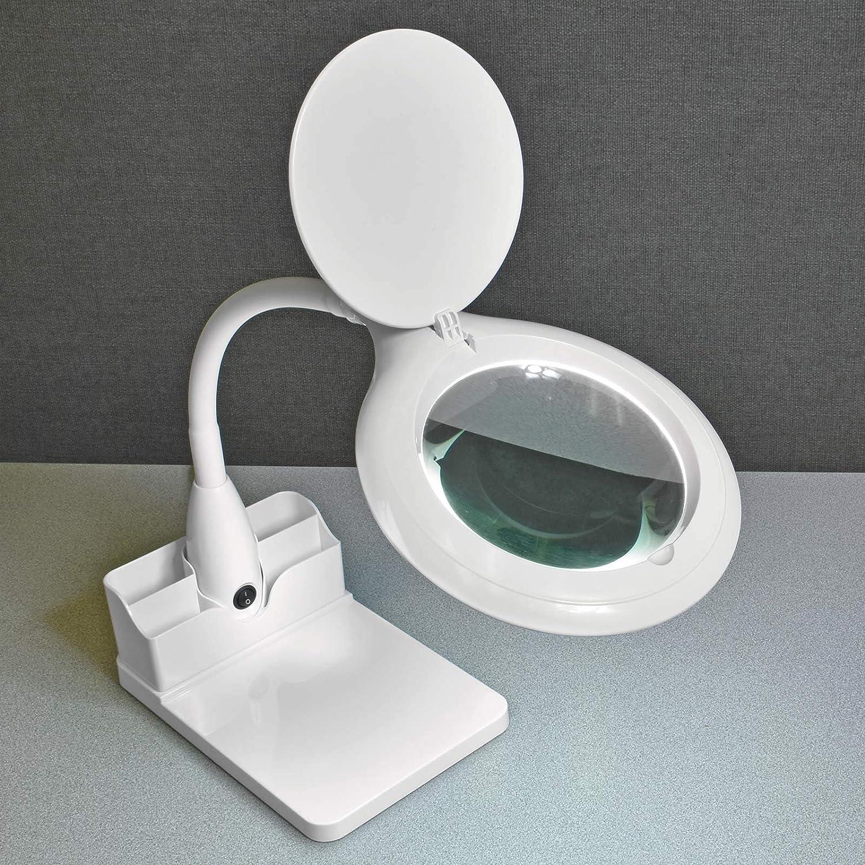 Desktop LED Lamp with Magnifier
