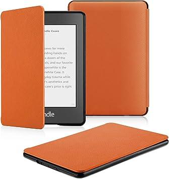 OMOTON Funda para Kindle Paperwhite (10ª Generación) Carcasa Kindle Paperwhite (2018 Lanzado), Sueño Automático, Cierre Magnético, Color Naranja, PU Duro, Solo para Kindle Paperwhite 2018: Amazon.es: Electrónica