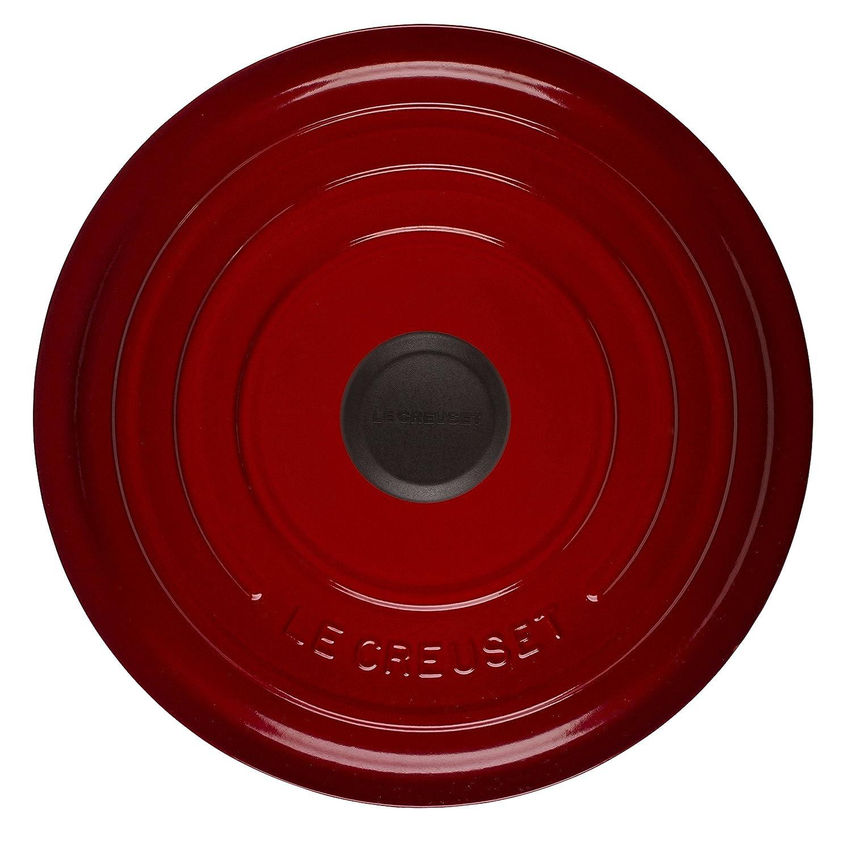 Le Creuset Round Casserole-5.3L, 26cm COCOTTE Redonda, Hierro Fundido, Cereza, 26 cm: Amazon.es: Hogar