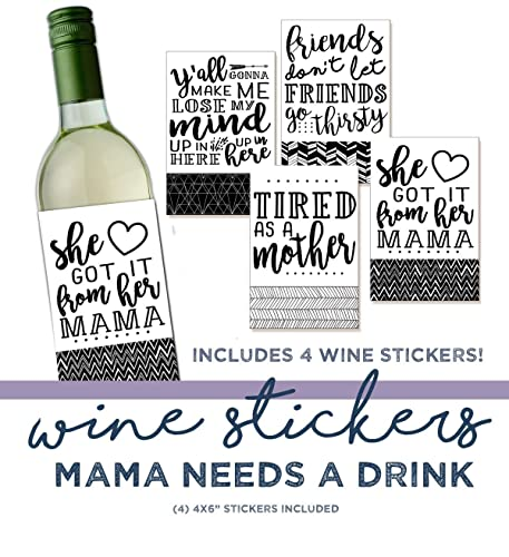 Gift Under 10 Funny Wine Sticker Wine Label Hostess Gift 4 Wine Labels Quotes On Wine Wine Gift Gift For Her Stocking Stuffer Gift
